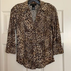 INC Leopard Top (size small)